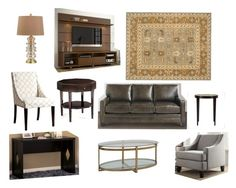 """Joaquin - Living Room"" by orion199 on Polyvore featuring interior, interiors, interior design, home, home decor, interior decorating, Inspire Q and living room"