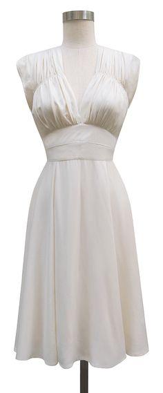 Trashy Diva 1940s Dress | Vintage Inspired Dress | Ivory Rayon