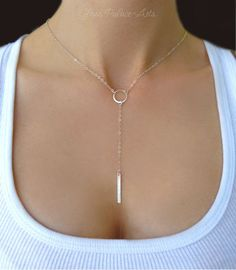 Sterling Silver Lariat Necklace, Dainty Y Necklace Long Choker, Long Lariat Bar Necklace For Women, Skinny Bar Rose Gold Everyday Jewelry Diamond Cross Necklaces, Silver Chain Necklace, Bar Necklace, Silver Bracelets, Sterling Silver Necklaces, Silver Earrings, Silver Ring, Earrings Uk, Nameplate Necklace