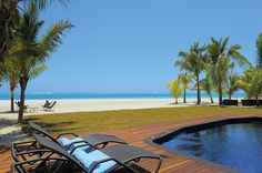 A perfect view from one of the Dinarobin Villas in Mauritius.