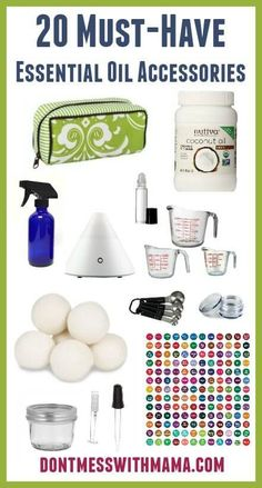 20 Must-Have Essential Oil Accessories and Supplies - Getting started with essential oils? this is a must-have list of accessories you need - DontMesswithMama.com