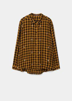Embroidered checked shirt size 14