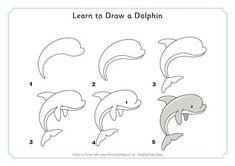 Apprendre à Dessiner Un Dauphin