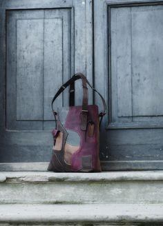 torebka skórzana orginalna ręcznie robiona Lena - ladybuqartstudio - Torebki skórzane