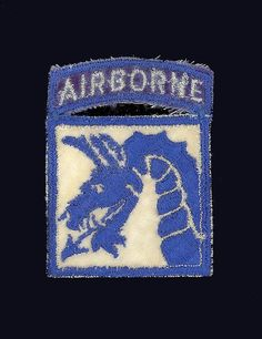 American WWII 18th Airborne Bullion Shoulder by Vintageroom24h