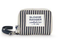 Sloane Ranger Denim Stripe ID Wristlet