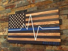 EMS Flag - Rustic Wooden Flag - American Flag - First Responder - Emergency Medical Service Personnel flag - EMT gift - EMS graduation gift, American Flag Decor, American Flag Wreath, Wooden American Flag, Gift Ems, Emergency Medical Services, Wooden Flag, Flag Painting, Fourth Of July Decor, Patriotic Decorations