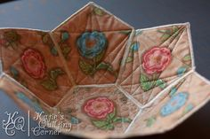 Quilted fabric bowl! @quiltedmagnolia