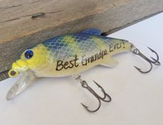 Shop for fishing on Etsy, the place to express your creativity through the buying and selling of handmade and vintage goods. Best Dad Gifts, Cool Gifts, Gifts For Dad, 60th Birthday Party, Birthday Ideas, Happy Birthday Grandpa, Craft Presents, Bait And Tackle, Personalized Birthday Gifts