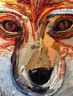 IN PROGRESS... (detail ) // 100% Collage // fabric on cardboard // (16,3 x 16,3 cm - 6,4 x 6,4 inches) - ©philippe patricio 2015 / all rights reserved