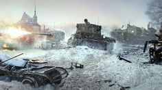 Download World of Tanks Game City Ruin Destruction Tank High Resolution 3840x2160
