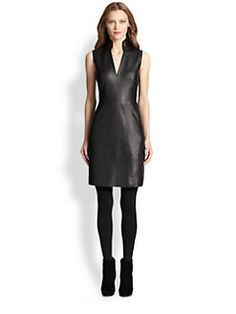 Akris Punto - Faux Leather & Jersey Dress