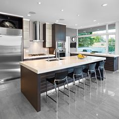 kitchen with shelves instead of cabinets | Frosted Glass Kitchen Cabinets Design Ideas, Pictures, Remodel, and ...
