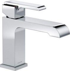 Delta 567LF-LPU Ara Single Hole Bathroom Faucet with Optional Base Plate - Inclu