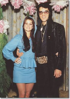 Priscilla and Elvis Presley at George Klein's wedding, December 5, 1970 Anniversary Party Ideas~
