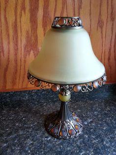 PartyLite Paris Metro Retro Tealight Candle Lamp Retired P7798 Amber Art Nouveau #PartyLite