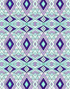 'Gems' Tribal | Aztec | Ethnic | Geometric Patterns - Pom Graphic Design #tribal #tribalpattern #Tribalprint #geometric #Triangles #pattern #Illustration #handmade #copicmarkers #copic #Prismacolor #markers #isograph #teal #Turquoise #purple #bright #lilac #handmadepattern