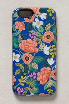 Nothing like a some great color contrast for a fresh spring look for your phone with this great floral phone case ~ Kate Mac~ (Night Blossom iPhone 6 Case)