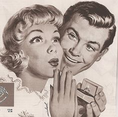 The Ultimate Guide to Buying the Perfect Engagement Ring by The Art of Manliness - very good basics descriptions for those who don't know much about jewelry Engagement Rings For Men, Buying An Engagement Ring, Perfect Engagement Ring, Engagement Photos, Vintage Advertisements, Vintage Ads, Vintage Prints, Vintage Romance, Vintage Love
