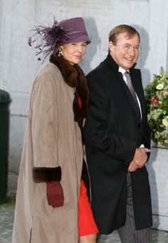 Prince Jean of Luxembourg and his wife Diane de Guerre