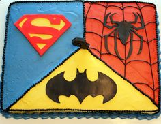 Superhero Cake but with captain America instead of superman.