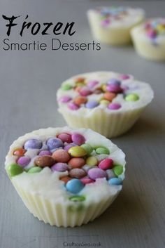 These no-prep frozen smartie desserts are super simple for even very young kids to make and are a great way to use up food that you already have at home. Finger Desserts, Fun Desserts, Delicious Desserts, Yummy Food, Frozen Desserts, Salty Snacks, Quick Snacks, Baking With Kids, Love Food