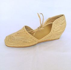 #ProudMary Natural Raffia Wedge