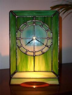 Stunning Handmade Stained Glass Clock, Glass Clock. Tiffany Glass. | eBay