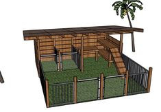 Our future goat shelter. Designed by my husband on Google SketchUp. The goats are going to love it!