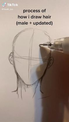 Body Drawing Tutorial, Eye Drawing Tutorials, Drawing Tips, Drawing Male Hair, Drawing Ideas, Art Drawings Sketches Simple, Pencil Art Drawings, How To Draw Hair, Learn To Draw Anime
