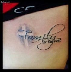 Family Tattoos - Tattoo Designs For Women! Tattoo Girls, Girl Tattoos, Tatoos, Tattoos For Daughters, Sister Tattoos, Neue Tattoos, Body Art Tattoos, Cross Tattoos, Quote Tattoos