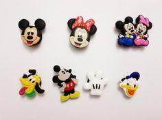 ef297ce21 Disney Mickey Mouse Shoe Charms 7 Pc Set - Jibbitz Croc Style by shopzone.   6.96