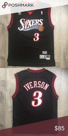 32c7e618a Adidas Allen Iverson Philadelphia 76ers NBA Jersey Men s Large. Worn once.  Excellent condition.