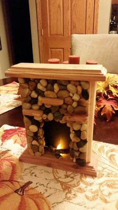 """Wood American Girl 18"""" size doll furniture LIGHTED Flickering FIREPLACE! brick insert, Christmas special! these WILL sell out"""