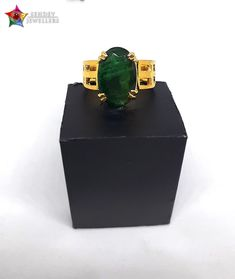 Panna is a Perfect gemstone for the natives who work in the field of art.  you should wear emerald stone as it is a stone of Mercury planet. With the help of this stone, the wearer can beat the competition.  Buy New Collection of Super Premium Zambian Emerald Ring. Emerald Gemstone-: 6.16 Ratti Gold-: 18k-5gm  #emeraldgemstone #panna #pannaring #rings #rinstacks #ringsoftheday #gold #designer #design
