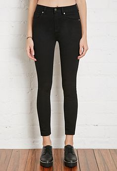 Clean Wash High-Rise Skinny Jeans | Forever 21 - 2000053636