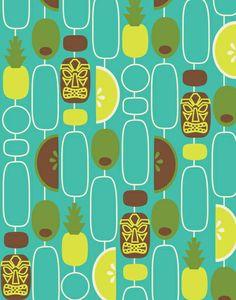 Tiki Weekend Art Print by Allison Beilke.