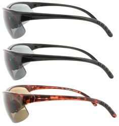 d0ada4784472 Fiore 3 Pack Bifocal Sun Reader Sport and Wrap Around Reading Sunglasses  Unisex Half Frame Readers