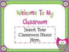 Back To School Owl Themed Open House Powerpoint Template