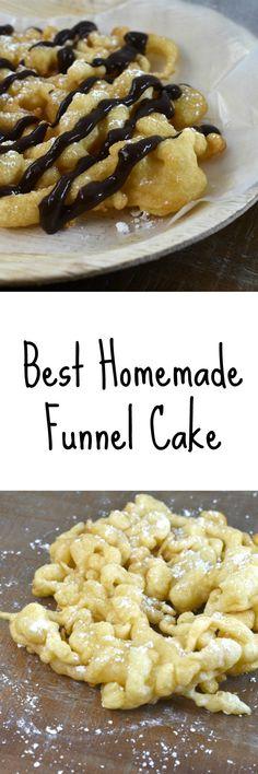 Homemade Funnel Cake Recipe Using Pancake Mix