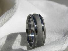 Titanium Ring Sandblasted Gray Wedding Band by titaniumknights, $45.00
