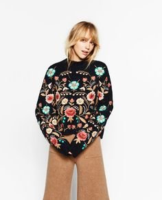 Image 2 of FLORAL EMBROIDERED SWEATER from Zara