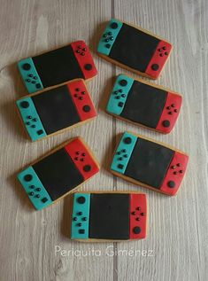 Nintendo Switch with Neon Blue and Neon Red Joy-Con (Discontinued by Manufacturer) 1st Birthday Party For Girls, Super Mario Birthday, Mario Birthday Party, Super Mario Party, 8th Birthday, Nintendo Cake, Nintendo Party, Zelda Birthday, Video Game Party