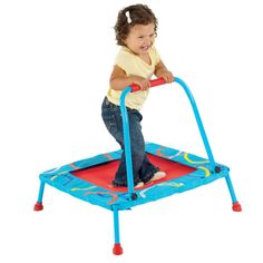Toddler Trampoline with Handle:  Hailey would *LOVE* this, totally want it!