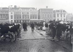 De oude veemarkt tijdens de  laatste marktdag aldaar; op de achtergrond hotel-restaurant Hollandia.