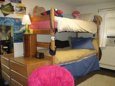 Fun And Bright College Dorm Room Just Enough Room To Put All Kinds Of
