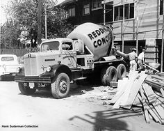 1960's White Cement Mixer