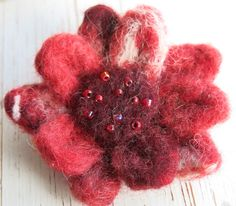needle felted brooch- floral brooch - flower pin - clothing accessory - floral pin - flower brooch - uk seller - jewellery by itsaMessyNest on Etsy