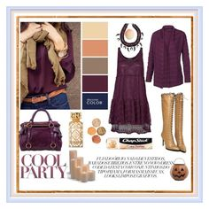 """""""Plum/Aubergine Shades for Fall"""" by explorer-14673103603 ❤ liked on Polyvore featuring Assad Mounser, Molly Bracken, Fat Face, Miu Miu, Chapstick, Tory Burch, Tony Moly, Frontgate and Tag"""