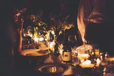 Candle lit table. Venue: Sydney Polo Club. Photography: And a Day.